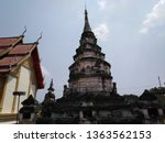 architecture in thai temples ... | Shutterstock . vector #1363562153