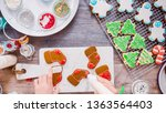 flat lay. step by step.... | Shutterstock . vector #1363564403