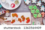 flat lay. step by step.... | Shutterstock . vector #1363564409