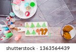flat lay. step by step.... | Shutterstock . vector #1363564439