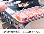 grilling new york strip steak... | Shutterstock . vector #1363567733