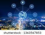 modern city with wireless... | Shutterstock . vector #1363567853