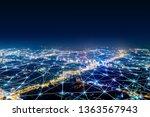 modern city with wireless... | Shutterstock . vector #1363567943