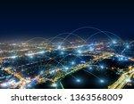 modern city with wireless... | Shutterstock . vector #1363568009