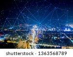 modern city with wireless... | Shutterstock . vector #1363568789