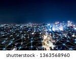 modern city with wireless... | Shutterstock . vector #1363568960