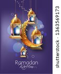 illustration of ramadan kareem ... | Shutterstock .eps vector #1363569173