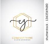 cz initial handwriting logo...   Shutterstock .eps vector #1363569680