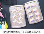 flat lay. decorating unicorn... | Shutterstock . vector #1363576646
