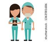medical teamwork avatar   Shutterstock .eps vector #1363581686