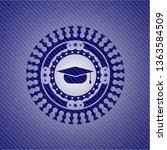 graduation cap icon inside...