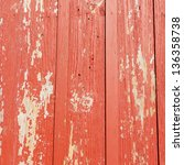 painted red old wooden wall.... | Shutterstock . vector #136358738