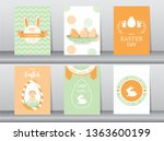set of easter greeting cards... | Shutterstock .eps vector #1363600199