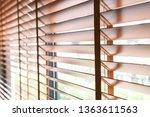 wooden shutters blind on the... | Shutterstock . vector #1363611563