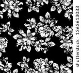 flower print. elegance seamless ... | Shutterstock . vector #1363613033