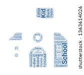 school word cloud. tag cloud...   Shutterstock .eps vector #1363614026