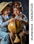 two little boys in the image of ... | Shutterstock . vector #1363625120
