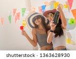 beautiful sexy young woman... | Shutterstock . vector #1363628930