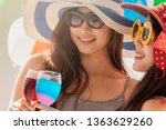 beautiful young asian woman... | Shutterstock . vector #1363629260