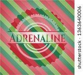 adrenaline christmas emblem.   Shutterstock .eps vector #1363640006