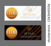 gift voucher template  vector   Shutterstock .eps vector #1363640336