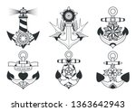 traditional tattoo design... | Shutterstock .eps vector #1363642943