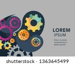 abstract techno gear background ...   Shutterstock .eps vector #1363645499
