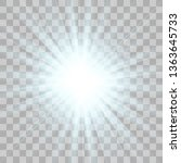 white glowing light explodes on ... | Shutterstock .eps vector #1363645733