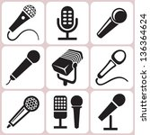 microphone icons set | Shutterstock .eps vector #136364624