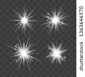 glowing lights effect  flare ...   Shutterstock .eps vector #1363646570