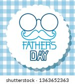 label with glasses and mustache ... | Shutterstock .eps vector #1363652363