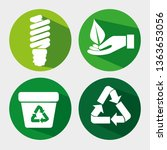 set ecology save bulb with... | Shutterstock .eps vector #1363653056