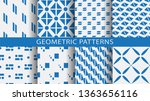 set of geometric seamless... | Shutterstock .eps vector #1363656116