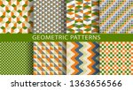 set of geometric seamless... | Shutterstock .eps vector #1363656566
