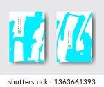 cool vector bright poster set... | Shutterstock .eps vector #1363661393
