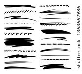 hand drawn collection set of... | Shutterstock .eps vector #1363662986