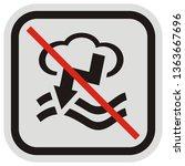bathing ban in bad weather ... | Shutterstock .eps vector #1363667696