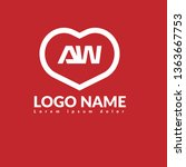 aw company linked letter logo...