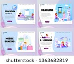 a set of home page templates  ... | Shutterstock .eps vector #1363682819
