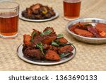 hot drinks and chicken 65 hot... | Shutterstock . vector #1363690133