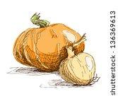 hand drawn illustration of... | Shutterstock .eps vector #136369613