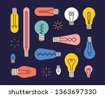 various shaped bulb design... | Shutterstock .eps vector #1363697330