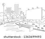 park billboard graphic black... | Shutterstock .eps vector #1363699493