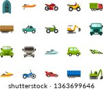 color flat icon set   passenger ... | Shutterstock .eps vector #1363699646