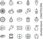 thin line vector icon set  ... | Shutterstock .eps vector #1363701206