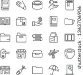 thin line vector icon set  ... | Shutterstock .eps vector #1363706906