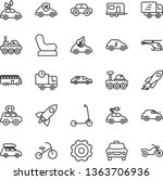 thin line vector icon set  ...   Shutterstock .eps vector #1363706936