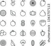thin line vector icon set  ...   Shutterstock .eps vector #1363707113