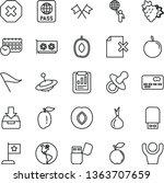 thin line vector icon set  ... | Shutterstock .eps vector #1363707659