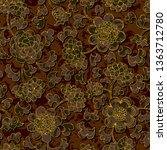 seamless floral damask pattern...   Shutterstock . vector #1363712780